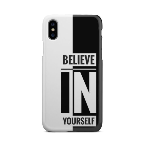 Believe In Yourself Motivational Quotes for Unique iPhone X / XS Case Cover