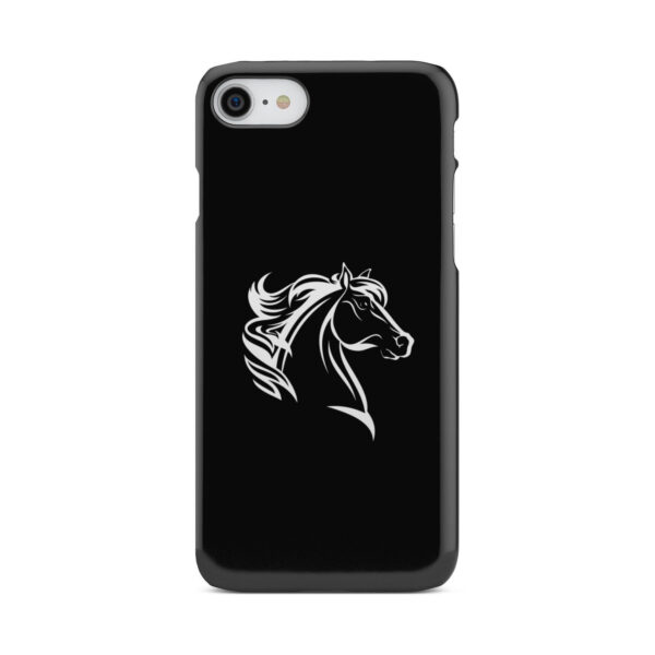 Black and White Horse Mane for Cool iPhone 8 Case