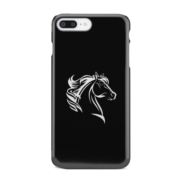 Black and White Horse Mane for Cool iPhone 8 Plus Case