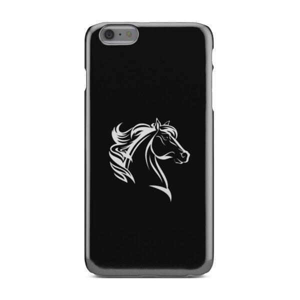 Black and White Horse Mane for Cute iPhone 6 Plus Case Cover
