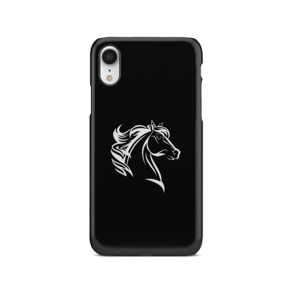 Black and White Horse Mane for Nice iPhone XR Case Cover