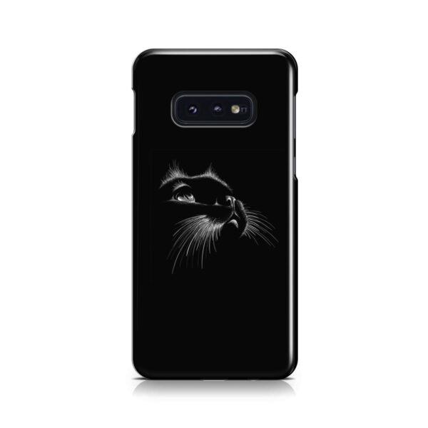 Black Cat for Cute Samsung Galaxy S10e Case