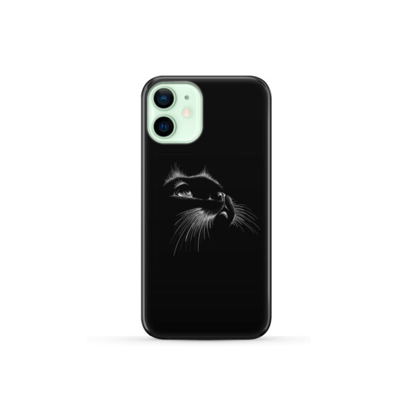 Black Cat for Personalised iPhone 12 Mini Case Cover