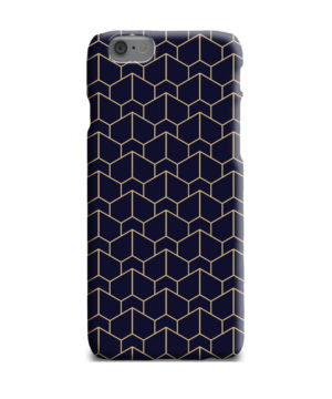 Blue Black and Gold Geometric Lines for Beautiful iPhone 6 Plus Case