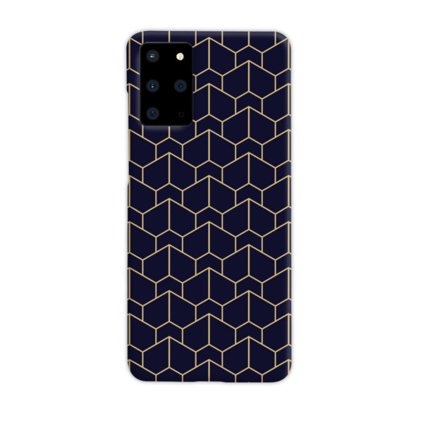 Blue Black and Gold Geometric Lines for Beautiful Samsung Galaxy S20 Plus Case