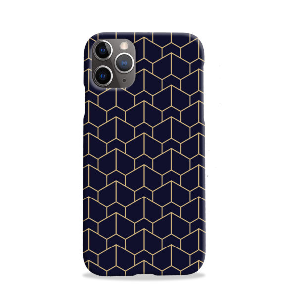 Blue Black and Gold Geometric Lines for Best iPhone 11 Pro Case Cover