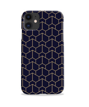 Blue Black and Gold Geometric Lines for Cute iPhone 11 Case Cover