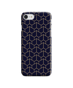 Blue Black and Gold Geometric Lines for Trendy iPhone 8 Case Cover