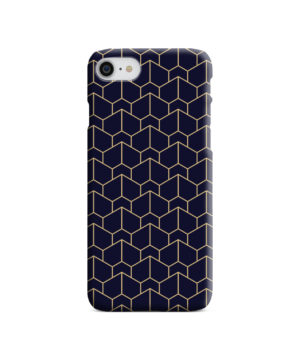 Blue Black and Gold Geometric Lines for Unique iPhone 7 Case Cover