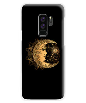 Boho Crescent Moon and Sun for Amazing Samsung Galaxy S9 Plus Case