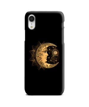 Boho Crescent Moon and Sun for Custom iPhone XR Case Cover