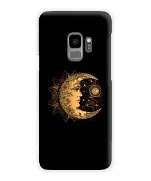 Boho Crescent Moon and Sun for Nice Samsung Galaxy S9 Case Cover