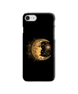 Boho Crescent Moon and Sun for Simple iPhone SE (2020) Case