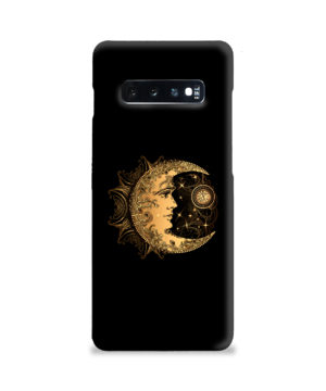 Boho Crescent Moon and Sun for Stylish Samsung Galaxy S10 Plus Case