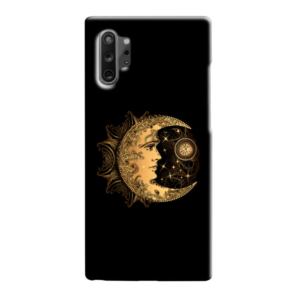Boho Crescent Moon and Sun for Unique Samsung Galaxy Note 10 Case Cover