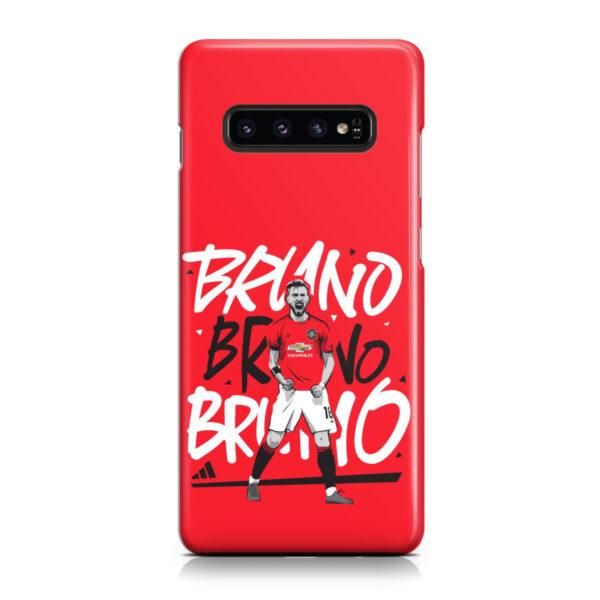 Bruno Fernandes Celebration Man UTD for Beautiful Samsung Galaxy S10 Case Cover