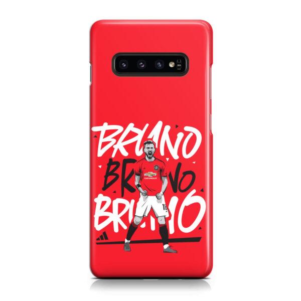 Bruno Fernandes Celebration Man UTD for Cute Samsung Galaxy S10 Plus Case Cover