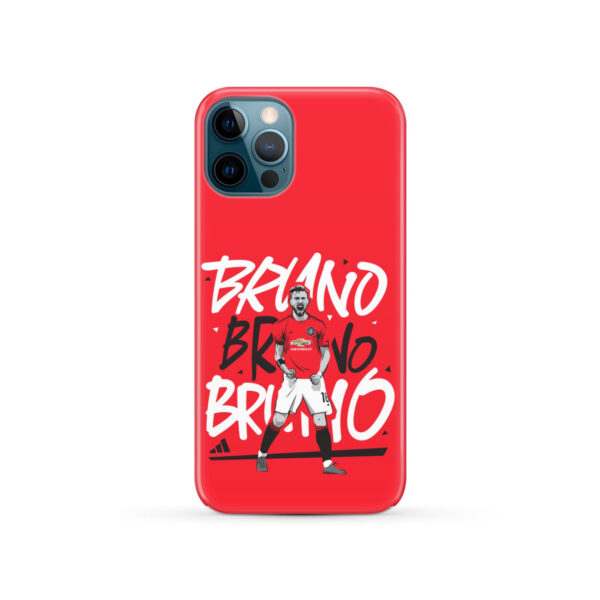 Bruno Fernandes Celebration Man UTD for Personalised iPhone 12 Pro Case Cover