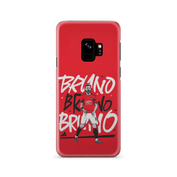 Bruno Fernandes Celebration Man UTD for Unique Samsung Galaxy S9 Case