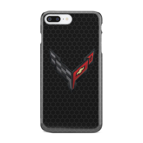 Corvette Black Carbon for Beautiful iPhone 8 Plus Case Cover