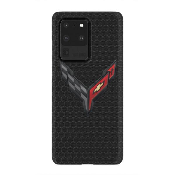 Corvette Black Carbon for Premium Samsung Galaxy S20 Ultra Case Cover