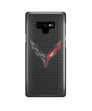 Corvette Black Carbon for Trendy Samsung Galaxy Note 9 Case