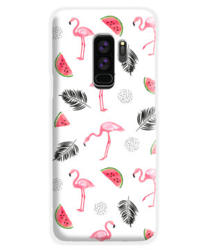 Cute Flamingos And Watermelon for Amazing Samsung Galaxy S9 Plus Case Cover