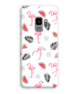 Cute Flamingos And Watermelon for Customized Samsung Galaxy S9 Case