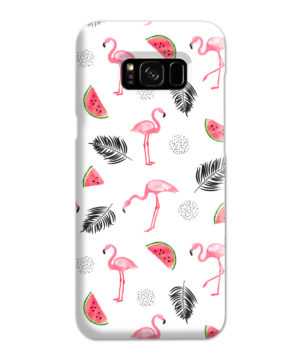 Cute Flamingos And Watermelon for Cute Samsung Galaxy S8 Plus Case Cover