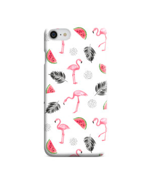 Cute Flamingos And Watermelon for Nice iPhone SE (2020) Case
