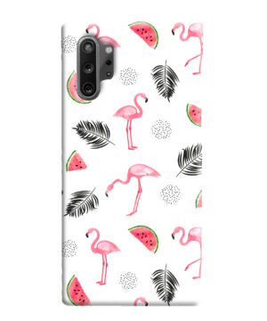 Cute Flamingos And Watermelon for Nice Samsung Galaxy Note 10 Plus Case