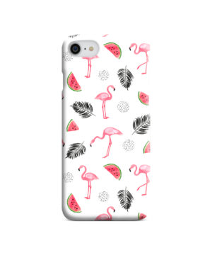 Cute Flamingos And Watermelon for Stylish iPhone 8 Case