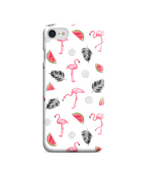Cute Flamingos And Watermelon for Trendy iPhone 7 Case Cover