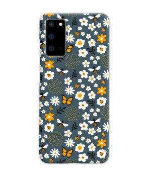 Cute Flowers and Bugs Cartoon Art for Beautiful Samsung Galaxy S20 Case Cover