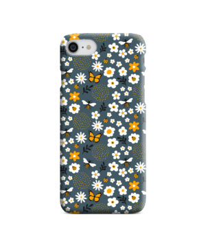 Cute Flowers and Bugs Cartoon Art for Best iPhone 7 Case