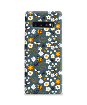 Cute Flowers and Bugs Cartoon Art for Best Samsung Galaxy S10 Plus Case Cover