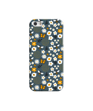 Cute Flowers and Bugs Cartoon Art for Cool iPhone 5 Case Cover
