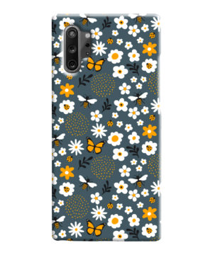 Cute Flowers and Bugs Cartoon Art for Cool Samsung Galaxy Note 10 Case Cover