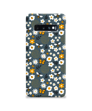 Cute Flowers and Bugs Cartoon Art for Customized Samsung Galaxy S10 Case Cover