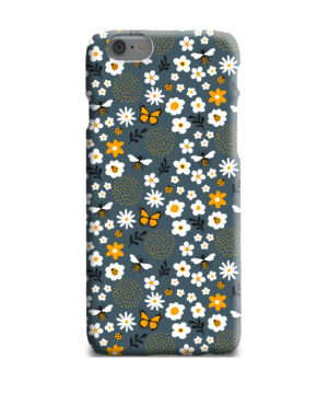 Cute Flowers and Bugs Cartoon Art for Newest iPhone 6 Plus Case