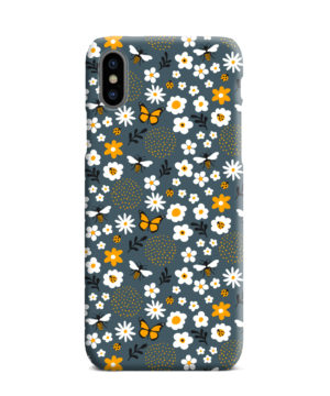 Cute Flowers and Bugs Cartoon Art for Nice iPhone XS Max Case