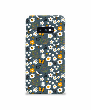 Cute Flowers and Bugs Cartoon Art for Nice Samsung Galaxy S10e Case