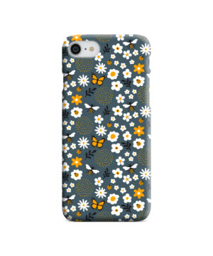 Cute Flowers and Bugs Cartoon Art for Personalised iPhone 8 Case