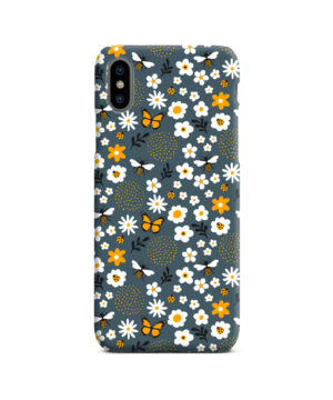 Cute Flowers and Bugs Cartoon Art for Personalised iPhone X / XS Case