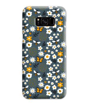 Cute Flowers and Bugs Cartoon Art for Personalised Samsung Galaxy S8 Plus Case