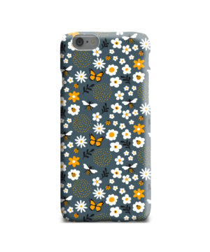 Cute Flowers and Bugs Cartoon Art for Premium iPhone 6 Case