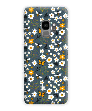 Cute Flowers and Bugs Cartoon Art for Premium Samsung Galaxy S9 Case