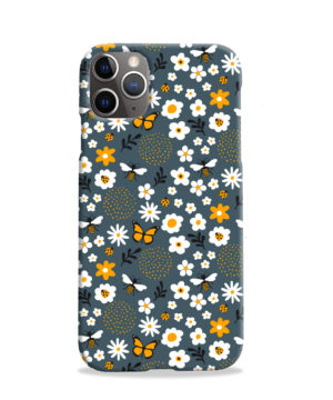 Cute Flowers and Bugs Cartoon Art for Simple iPhone 11 Pro Case Cover