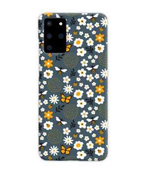 Cute Flowers and Bugs Cartoon Art for Stylish Samsung Galaxy S20 Plus Case Cover