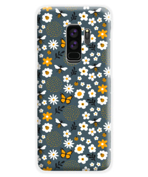 Cute Flowers and Bugs Cartoon Art for Trendy Samsung Galaxy S9 Plus Case